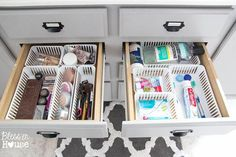 Use Dollar Store Baskets to Organize Your Drawers