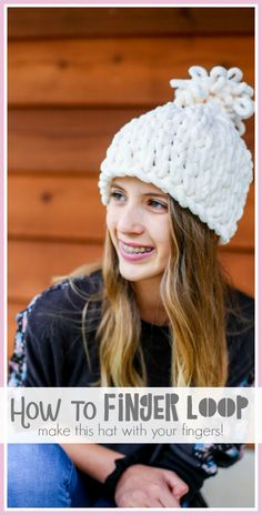 How to make a Chunky Finger Looping Hat - with your fingers!! Come learn how for a fun fall or winter craft project idea - Sugar Bee Crafts