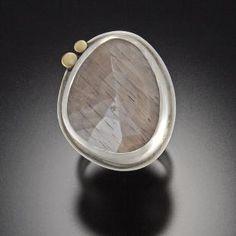 Gray Moonstone Ring | Ananda Khalsa Jewelry