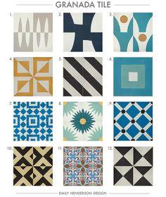 Cement Tile RoundUp Granada Tile Patterned Tiles Emily Henderson