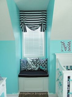 Aqua nautical nursery