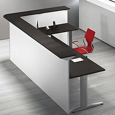 Reception δύο θέσεων 260cm Corner Desk, Furniture, Home Decor, Offices, Wood, Corner Table, Decoration Home, Room Decor, Home Furnishings