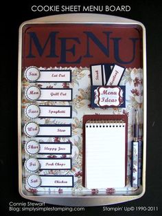 I finally made something I saw on Pinterest!  Mine's a little different and it uses all Stampin Up products.