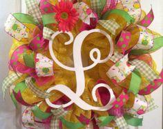 Summer Wreath/ Spring Wreath/ Welcome Wreath/ by Wreaths4u2byPaula