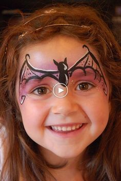 Halloween girl simple makeup – our choice of cute or scary ideas Loading. Halloween girl simple makeup – our choice of cute or scary ideas Face Painting Halloween Kids, Halloween Makeup For Kids, Girl Face Painting, Kids Makeup, Face Painting Designs, Painting For Kids, Face Paintings, Face Makeup, Halloween Ideas