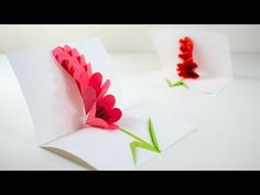 (1) Pop Up Flower Card - Tutorial - DIY 🍉 - YouTube Pop Up Flower Cards, Pop Up Flowers, Pop Up Cards, Diy Flowers, Making A Bouquet, Flower Making, Flower Bouquet Diy, Paper Crafts Magazine, Quilling Flowers
