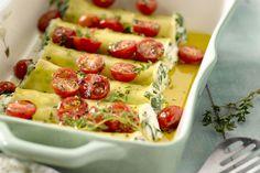 pastagerecht - cannelloni, kerstomaten, ... - Verwarm de oven voor op 180 °C.