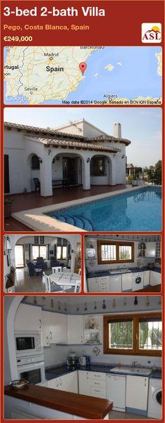 3-bed 2-bath Villa in Pego, Costa Blanca, Spain ►€249,000 #PropertyForSaleInSpain