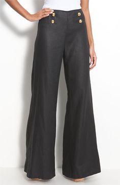 Nordstrom Rack Lafayette 148 New York 'Lavish Linen' Sailor Pants Work Fashion, Fashion Outfits, Fashion Design, Beautiful Outfits, Cute Outfits, Sailor Pants, Pantalon Large, New York S, Lafayette 148