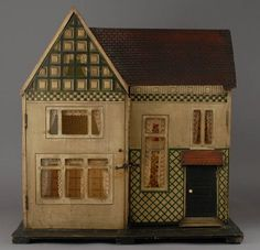 Antique Dollhouse:  English, Carpenter-Made Doll's House – Circa 1895