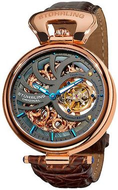 Stuhrling Original 127C.334XK54 Special Reserve Emperors Mechanical Skeleton Timepiece For Men