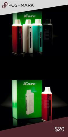 eLeaf iCare Kit Red 15w iCare Product Introduction: The iCare is a compact e-cigarette starter kit with an internal tank and airflow system. It is quite simple to use for the automatic On/Off feature that initiates when vaping. The e-liquid can be refilled into the tank from top with ease. three color LEDs, you can easily check the battery status by a simple glance at the color of the light.  Kit  Includes 1 x iCare Mini Mod 1 x iCare Mini PCC 2 x IC 1.1ohm Coil Heads 1 x User Manual 1 x USB…