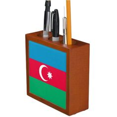 Flag of Azerbaijan Desk Organisers