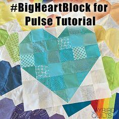 Big Heart Block for Pulse Tutorial - #QuiltsForPulse | jaybird quilts | Bloglovin'