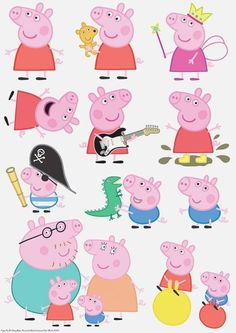 Edible Icing Image PEPPA PIG Character Sheet for sale on Trade Me, New Zealand's auction and classifieds website Fiestas Peppa Pig, Cumple Peppa Pig, Pig Character, Character Sheet, Peppa Pig Drawing, Peppa Pig Stickers, Peppa Pig Wallpaper, Peppa Pig Printables, Peppa Pig Birthday Cake