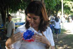 Norman Quijano futuro presidente de El Salvador compartiendo en el festival Aprendiendo en familia.