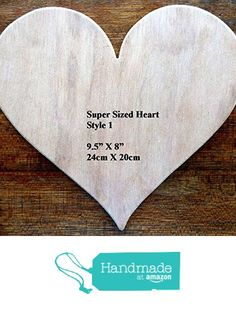 """Fantastic Super Sized Hand Crafted MDF Heart Shaped Blank Plaque 9.5"""" x 8"""" - 9mm Thick (Style 1) from The Andromeda Print Emporium https://www.amazon.co.uk/dp/B01KBK8NP2/ref=hnd_sw_r_pi_dp_JhRRxb3P2ZNN8 #handmadeatamazon"""