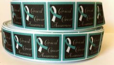 5+Yards+Cervical+Cancer+Awareness+Grosgain+1+by+RibbonsForLess,+$3.99 Awareness Ribbons, Cancer Awareness, Cervical Cancer, Coffee Cans, Yards