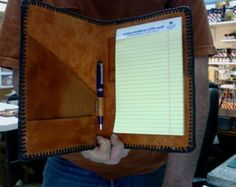 Note Book / Sheridan / Oak Leaf and Acorn / Hand carved and Tooled / Custom / Western / Leather / Portfolio, Note Pad / Men / Women