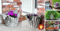 Unikátne kvetináče, ktoré nemá nikto iný. Ukážeme vám jednoduchý postup, ako si vyrobiť!