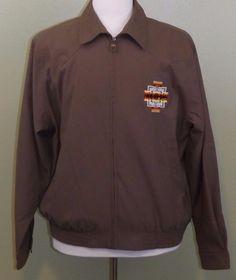 NWT Pendleton Embroidered Chief Joseph Pattern Zip Men's Brown Jacket Large NEW #Pendleton #BasicJacket