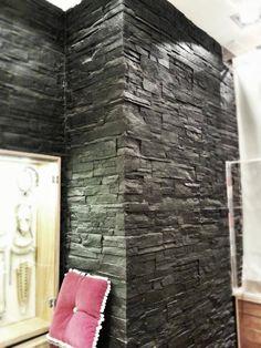 Grosse Steinwand In Wohnbereich | Wandgestaltung Wohnzimmer | Pinterest |  Wand