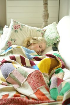 Don't throw out those moth-eaten wool sweaters. Duh. -  sleeping on the couch - happiness | Flickr - Photo Sharing!