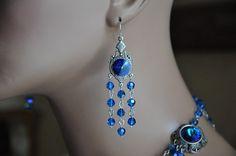 Bridal Chandelier EarringsSwarovski Crystal by cynthiacouture