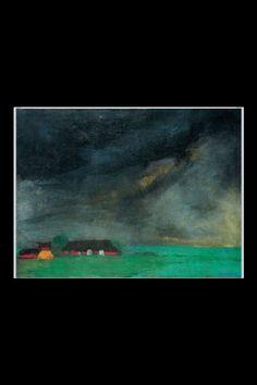 """Emil Nolde -""""Hülltoft Hof"""", 1932 - Öl auf Leinwand - 73 x 97,5 cm"""