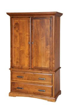 "Amish 42"" Wood Armoire Wardrobe  East Earl Collection  A beautiful addition to your storage suite, to serve as an extension of your closet or dresser, our 42"" Armoire is sure to"