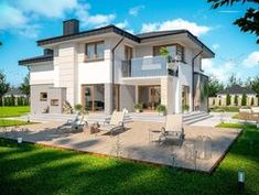 DOM.PL™ - Projekt domu ARP EMILIAN CE - DOM AP2-13 - gotowy koszt budowy Classic House Exterior, Modern Small House Design, Home Fashion, Ideas Para, House Styles, Building, Home Decor, Houses, Moldings