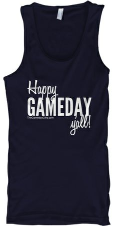 """Limited Edition """"Gameday"""" Tank by The Gameday Girls. $18, available in red, blue, black, purple, green, and orange."""