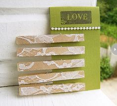 DIY~Lace (clothespin) Clips...I actually saw some of these at a consignment store last week for $10.00!!!!