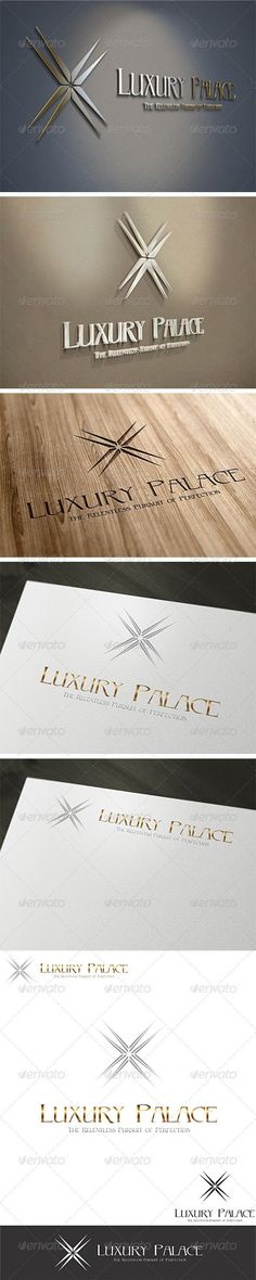 Luxury Hotels Logo Template: Abstract Logo Design Template created by EladChai. Logo Design Template, Logo Templates, Flyer Template, Cool Business Cards, Business Logo, What Is Fashion Designing, Hotel Logo, Twitter Backgrounds, Luxury Logo