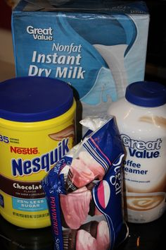 Homemade Hot Chocolate Mix, I have been making this for years.  My children and husband love it.  Fill mug about half full of mix and add the rest with hot water.  this makes a bunch so could be given out as gifts.
