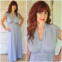 Love maxi dresses and this one she got from stitch fix!  Looks so comfy and figure flattering!