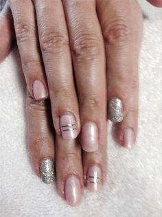 Tape & Glitter by nailsbyamissig via @nailartgallery #nailartgallery #nailart #nails #gelpolish