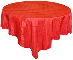Red Pintuck Table Overlay provided by Waterford Event Rentals.