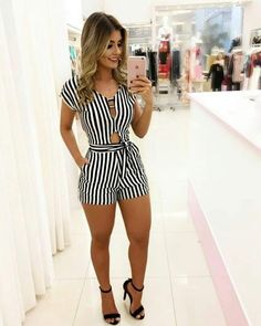 Cute Rompers for Women Chic Outfits, Summer Outfits, Fashion Outfits, Womens Fashion, Fashion 2018, Look Fashion, Fashion Design, Fashion Trends, Bon Look