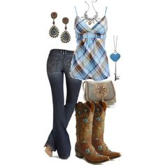 """""""Country blue"""" by martyarush on Polyvore"""