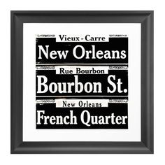 Dot & Bo Saint Signs Art Print ($30) ❤ liked on Polyvore featuring home, home decor, wall art, new orleans wall art, french wall art, french sign, french home decor and new orleans home decor