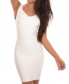Abigail White Mini Bandage Dress