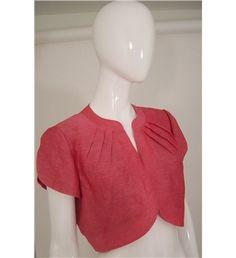 CC Rose Pink Linen/Silk Mix Bolero Jacket Size 12 Bolero Jacket, Pink Roses, Size 12, Couture, Silk, Jackets, Shopping, Tops, Dresses