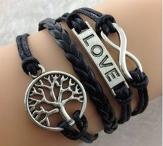 Head on over to Amazon and snag thisLife Tree Love Infinity Black Leather Bracelet for just $1.87 with FREE Shipping!!