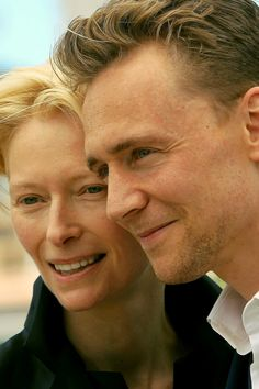 Tom Hiddleston & Tilda Swinton - Cannes May 25 2013. She has always creeped me out, but I will deal with my fears now.