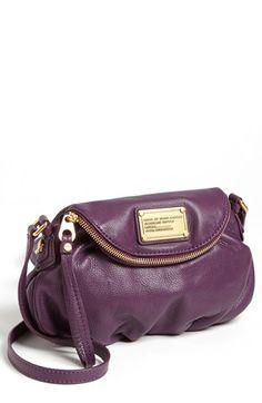 MARC by Marc Jacobs 'Classic Q Natasha - Mini' Crossbody Flap Bag Pansy Purple