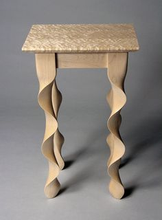 Maple Taffy Table: David Hurwitz: Wood Side Table - Artful Home