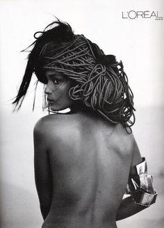 by Steven Meisel, Model: Liya Kebede