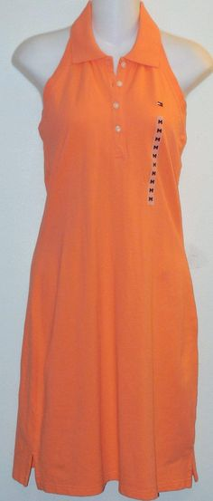 Tommy Hilfiger Orange Halter Cotton Pique Medium Dress. Free shipping and guaranteed authenticity on Tommy Hilfiger Orange Halter Cotton Pique Medium DressCasual halter dress from Tommy Hilfiger in orange ...