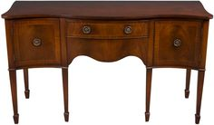 Antique Mahogany Buffet - serpentine front.  Dining room furniture or entry way piece.